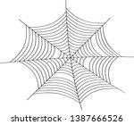 cobweb vector illustration.... | Shutterstock .eps vector #1387666526