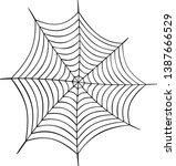 cobweb vector illustration.... | Shutterstock .eps vector #1387666529