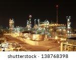night scene of chemical plant   ...   Shutterstock . vector #138768398