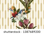 vintage beautiful and trendy... | Shutterstock . vector #1387689200