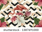 vintage beautiful and trendy... | Shutterstock . vector #1387691000