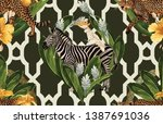 vintage beautiful and trendy... | Shutterstock . vector #1387691036