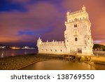 belem tower at night. lisbon ... | Shutterstock . vector #138769550