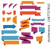set design banners colorful... | Shutterstock .eps vector #1387727810