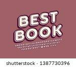 vector retro style emblem best... | Shutterstock .eps vector #1387730396