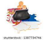 Banking, investment or financial concept in Serbia. 3D rendering isolated on white background