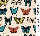 butterfly vector seamless... | Shutterstock .eps vector #138774356