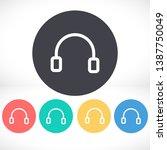headphones icon vector. lorem... | Shutterstock .eps vector #1387750049
