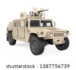 Humvee High Mobility Multipurpose Wheeled Vehicle Isolated. 3D rendering