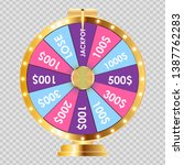wheel of fortune  lucky icon.... | Shutterstock .eps vector #1387762283