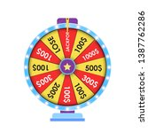 wheel of fortune  lucky icon.... | Shutterstock .eps vector #1387762286