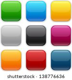 set of blank colorful square... | Shutterstock .eps vector #138776636