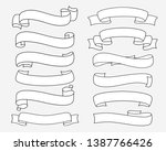 set of vector line ribbons and... | Shutterstock .eps vector #1387766426