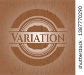 variation vintage wooden emblem.... | Shutterstock .eps vector #1387770290