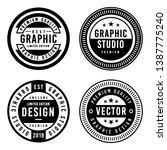 a vintage badge design set. | Shutterstock .eps vector #1387775240