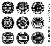 a vintage badge design set. | Shutterstock .eps vector #1387775243