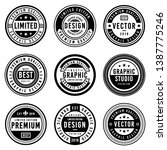 a vintage badge design set. | Shutterstock .eps vector #1387775246