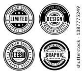 a vintage badge design set. | Shutterstock .eps vector #1387775249