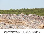 plastic pollution in the... | Shutterstock . vector #1387783349