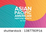 asian pacific american heritage ... | Shutterstock .eps vector #1387783916