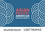 asian pacific american heritage ... | Shutterstock .eps vector #1387783943