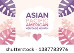 asian pacific american heritage ... | Shutterstock .eps vector #1387783976