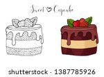 vector isolated cake or cupcake ... | Shutterstock .eps vector #1387785926