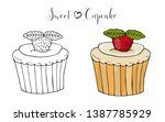 vector isolated cake or cupcake ... | Shutterstock .eps vector #1387785929
