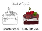 vector isolated cake or cupcake ... | Shutterstock .eps vector #1387785956