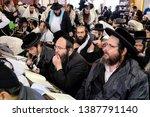 ultra orthodox jewish hasids ... | Shutterstock . vector #1387791140