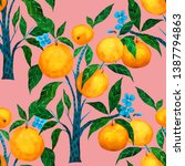 watercolor seamless pattern... | Shutterstock . vector #1387794863