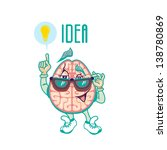 brain character with big idea... | Shutterstock .eps vector #138780869