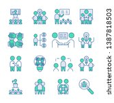 simple set of team work icon.... | Shutterstock .eps vector #1387818503