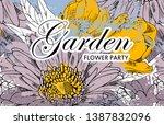 vector beautiful greeting card...   Shutterstock .eps vector #1387832096