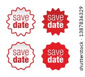 save the date label sign | Shutterstock .eps vector #1387836329