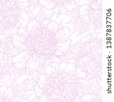 seamless pattern with peony... | Shutterstock .eps vector #1387837706