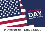 memorial day in united states.... | Shutterstock .eps vector #1387853030