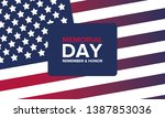 memorial day in united states.... | Shutterstock .eps vector #1387853036