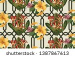 vintage beautiful and trendy... | Shutterstock . vector #1387867613
