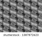 isometric seamless pattern ... | Shutterstock .eps vector #1387872623