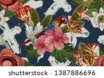 vintage beautiful and trendy...   Shutterstock . vector #1387886696