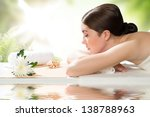 beautiful spa woman lying on... | Shutterstock . vector #138788963