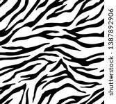 Full Seamless Zebra Tiger...