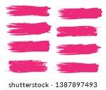 brush stroke set isolated on... | Shutterstock .eps vector #1387897493