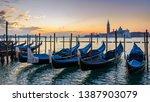 sunrise in san marco square ...   Shutterstock . vector #1387903079