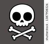 cute stylized cartoon skull and ...   Shutterstock .eps vector #1387908326