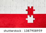 jigsaw puzzle with missing...   Shutterstock . vector #1387908959