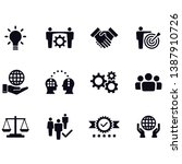 core values icon set  ... | Shutterstock .eps vector #1387910726