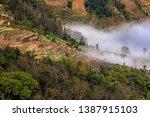 samaba rice terrace fields in... | Shutterstock . vector #1387915103