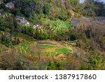 samaba rice terrace fields in... | Shutterstock . vector #1387917860